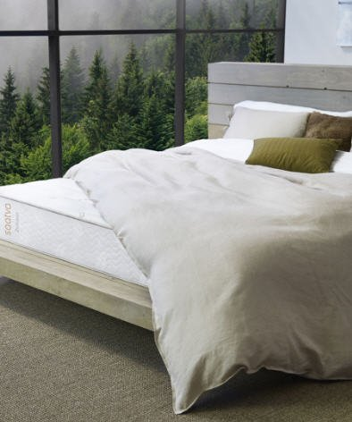 Zenhaven Mattress with cover on bed